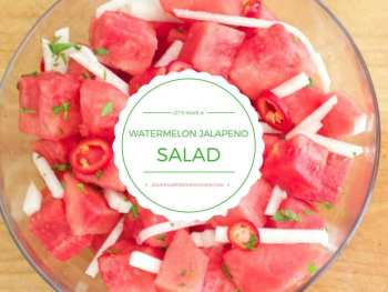 Watermelon Jalapeno Feta Salad