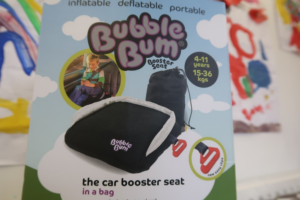 BubbleBum Inflatable Car Booster Seat {Review & Giveaway}