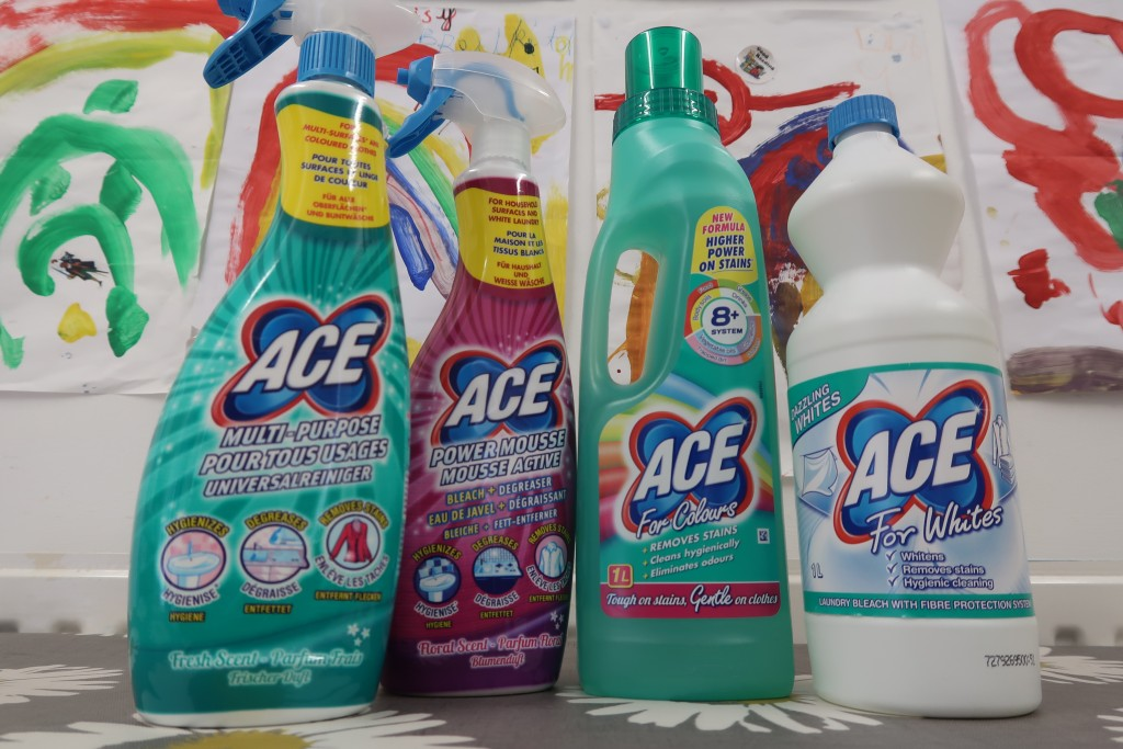 Keeping My Home & Laundry Clean With ACE Cleaning Products {Review}