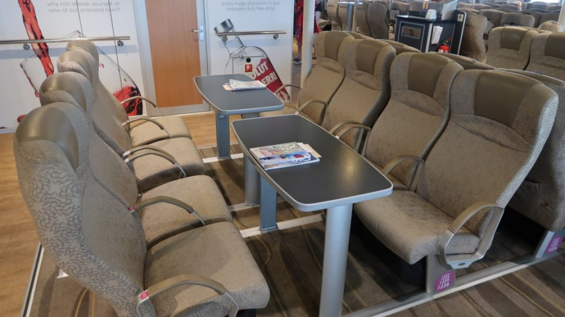 ocean club lounge seating The Condor Liberation condor ferries