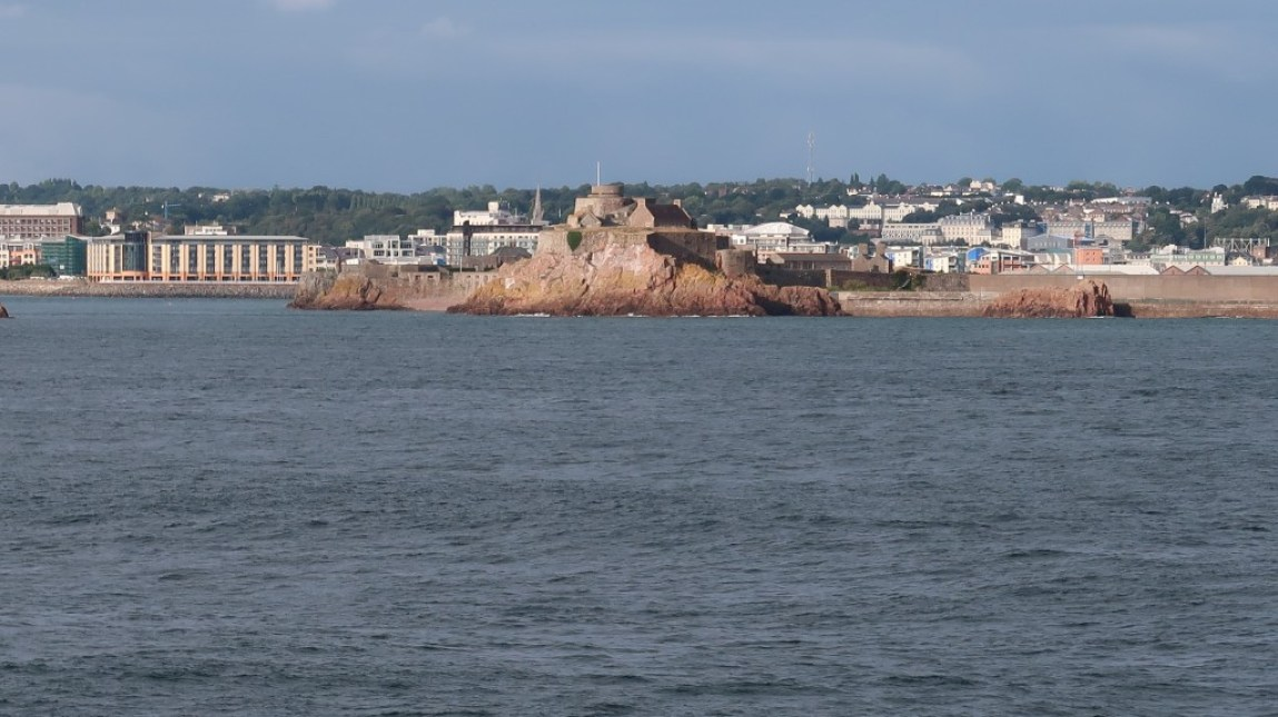 view of jersey from the observation deck The Condor Liberation condor ferries