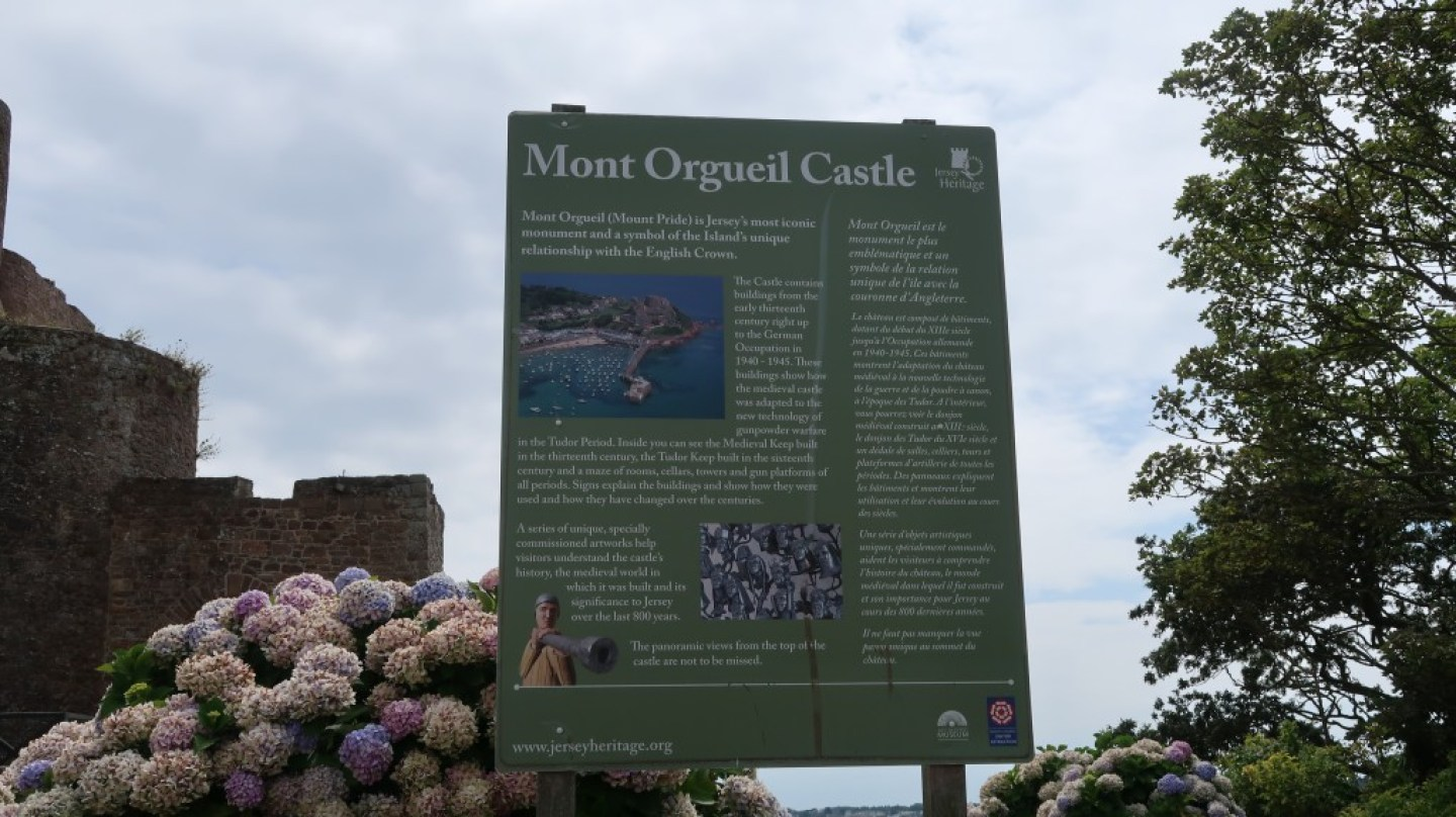 welcome to Mont Orgueil Castle