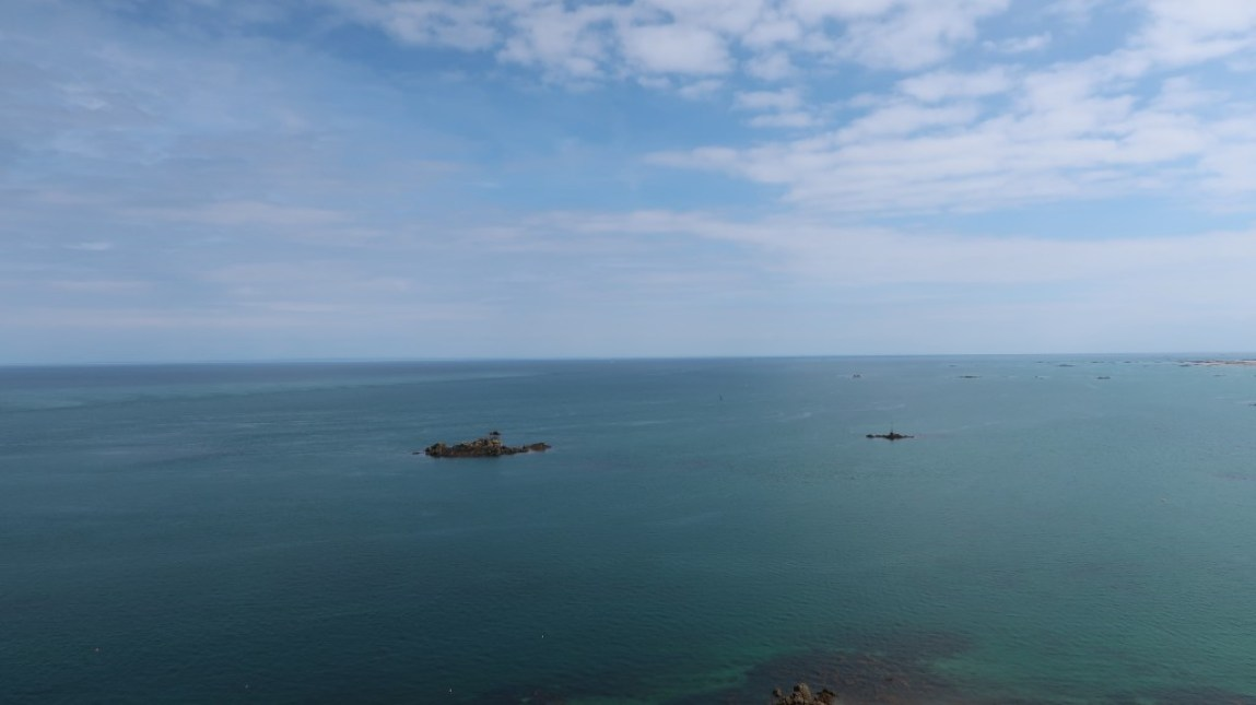 sea view from atop Mont Orgueil Castle Jersey