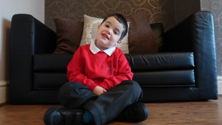#ACEforSchool Challenge young boy in school uniform