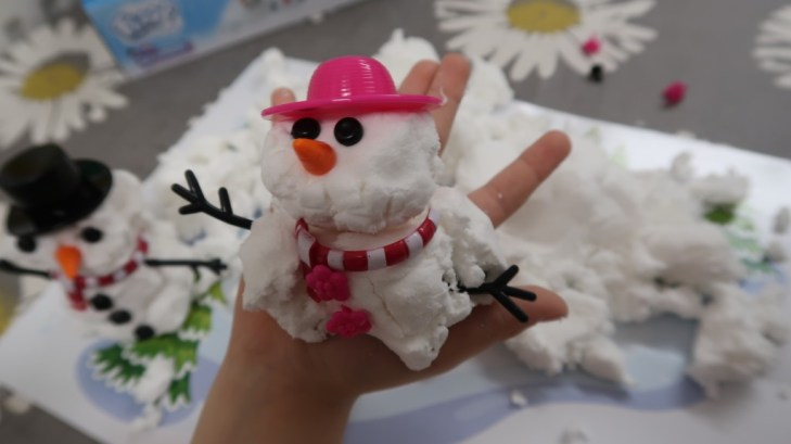 snowman made out of floof