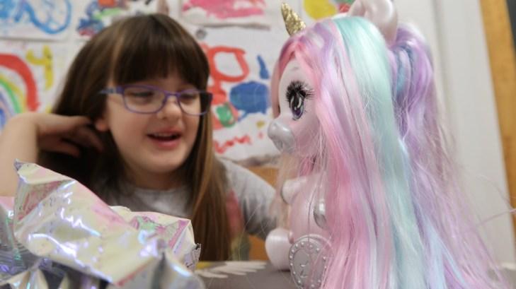 Pastel unicorn rainbow hair
