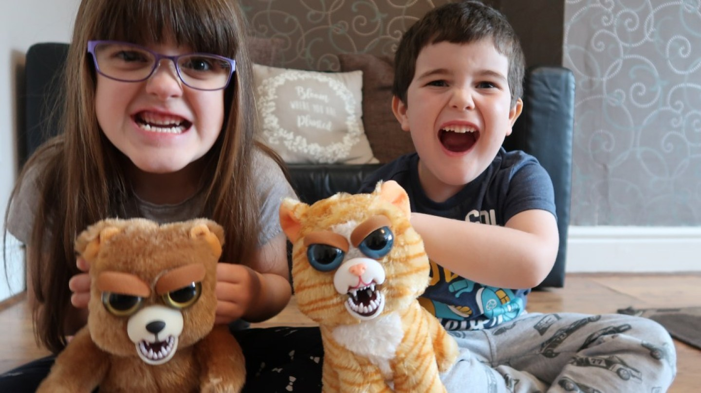 scary faces kids feisty pets toys