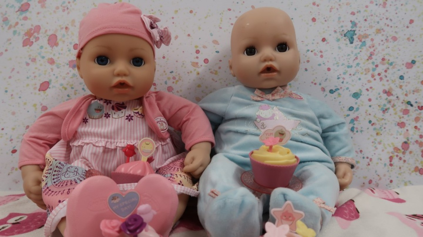 Baby Annabell My Special Day having a tea party with friend