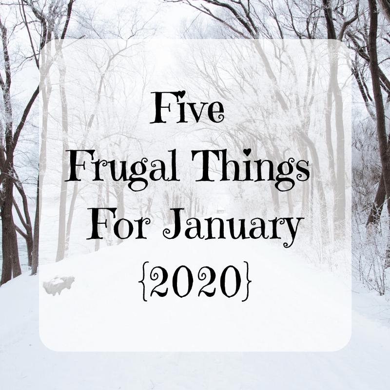 Five Frugal Things For January {2020}