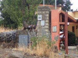 trash basket and mailboxes