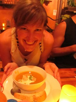 Rich creamy and spicy - Thai Pumpkin Soup.