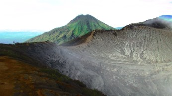 The lunar landscape of the Ijen Plateau