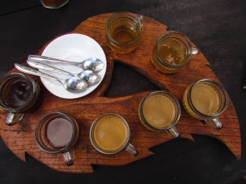 Balinese coffee, coconut coffee, vanilla coffee, ginseng coffee, lemon tea and ginger tea
