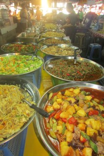 Food market in Chaing Mai, Thailand