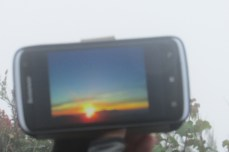 What the sunrise looks like behind the clouds. A guy had done the trek a week before and shared his pics.