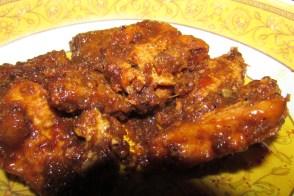Tofu in a rich peanut BBQ sauce
