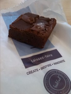 The #3 , Sydney State Library cafe's brownie. Scrumptious