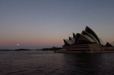 Taking the ferry back to Central Quay at sunset!