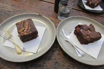 Peanut Butter and a Nougat Brownie at Tomboy in Collingwood
