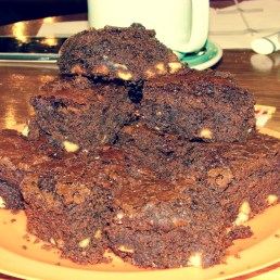 Fiona's Reece's Pieces chocolate brownies