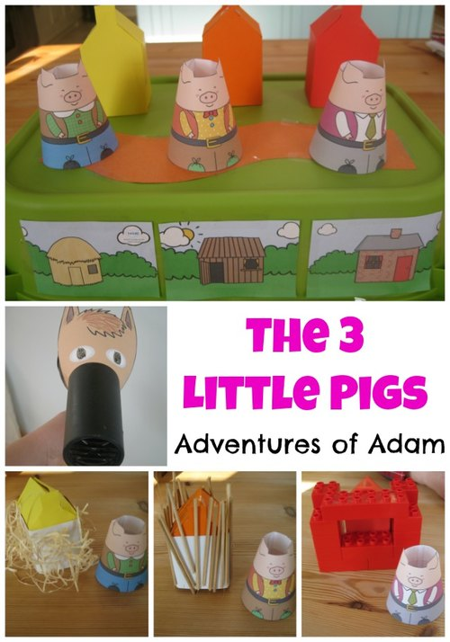 Adventures of Adam The 3 little pigs