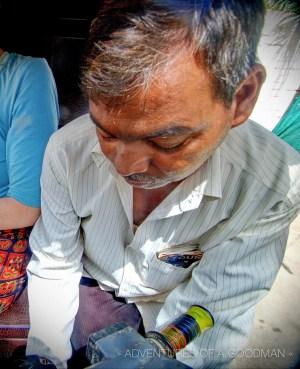 Malik - our tuk tuk driver in Agra