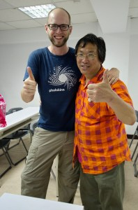 With Professor Yang at his photography class in Taipei, Taiwan