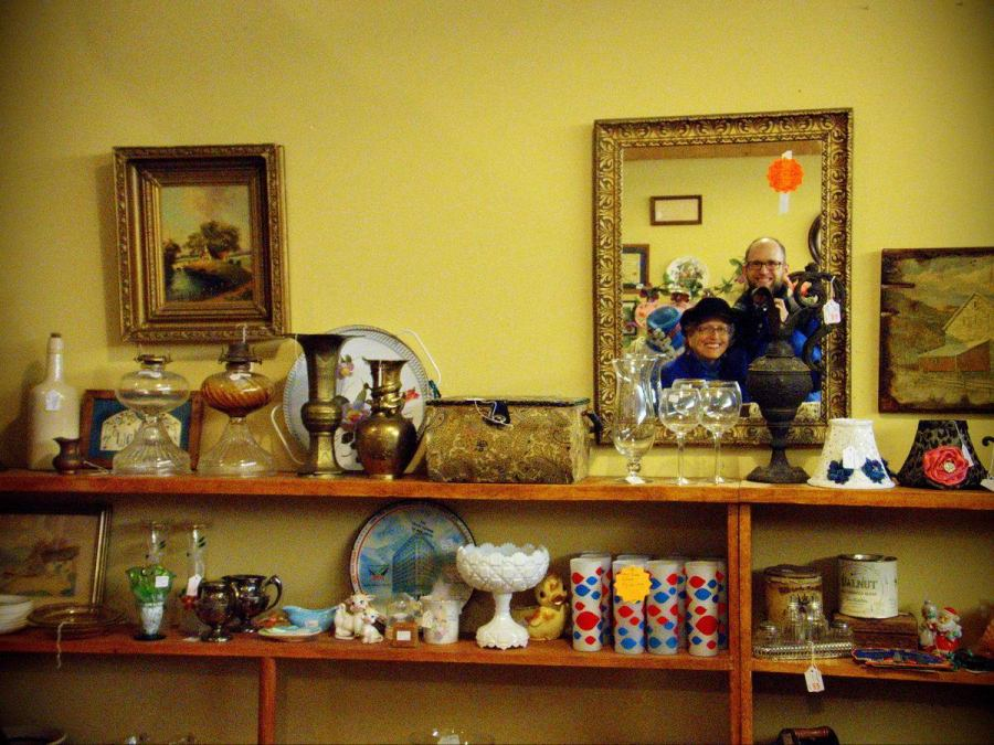 Out antiquing in Milford, PA, with my wonderful mother, Bonnie