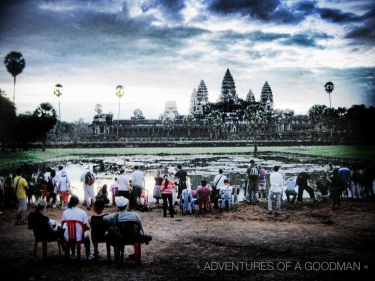 An Angkor Wat sunrise in 2009