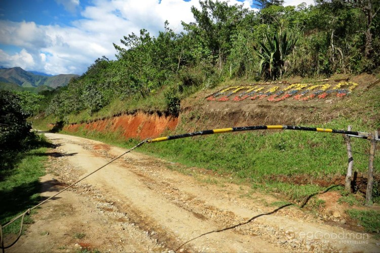This was the good part of the road between La Balsa and Zumba, Ecuador.