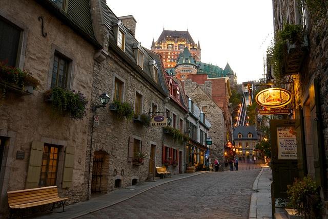 Streets of Old Quebec - photo by Dhinakaran Gajavarathan