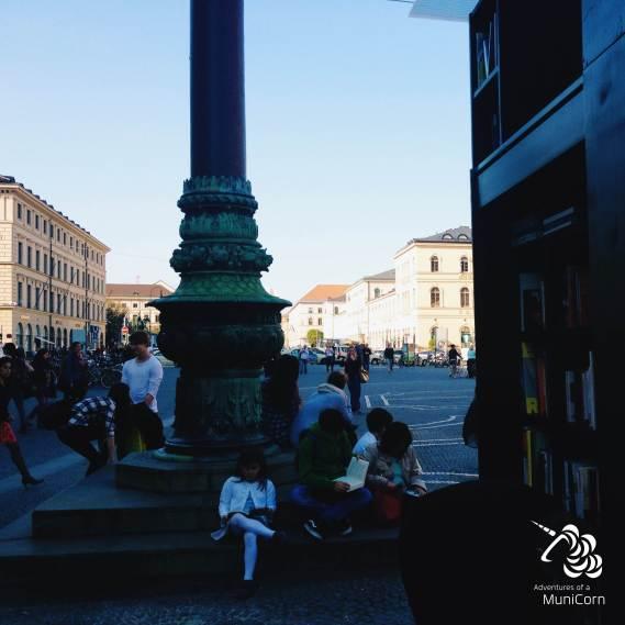 Stadt lesen Odeonsplatz
