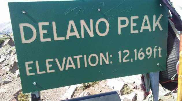 Delano Peak Elevation Sign