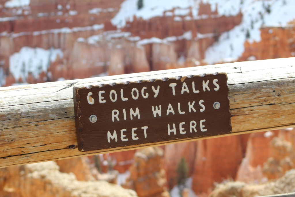 Geology Sign at Bryce Canyon