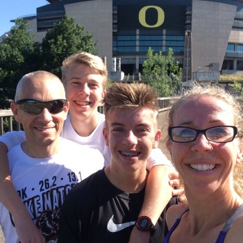 And then, there we were:  the running mecca of colleges, the University of Oregon!