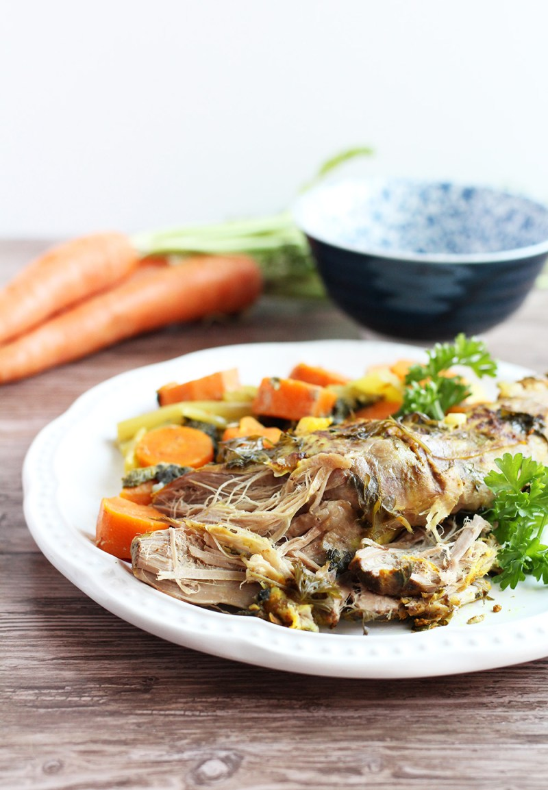 Easy Slow Cooker Pork Tenderloin, Paleo and AIP