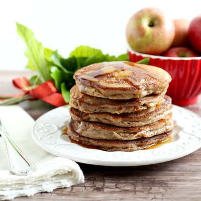 Paleo Cinnamon Apple Pancakes (made with cassava flour: gluten-free, grain-free, nut-free, dairy-free, and refined sugar-free)