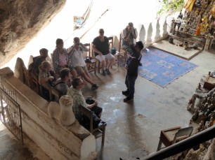 Yang gave us a talk about the caves