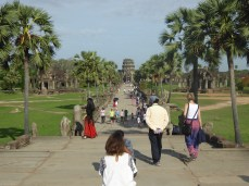 Heading back out of Angkor Wat