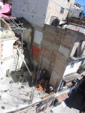Construction site, future Hotel de Mineral de la Taxco, rear view, Taxco de Alarcon, Mexico