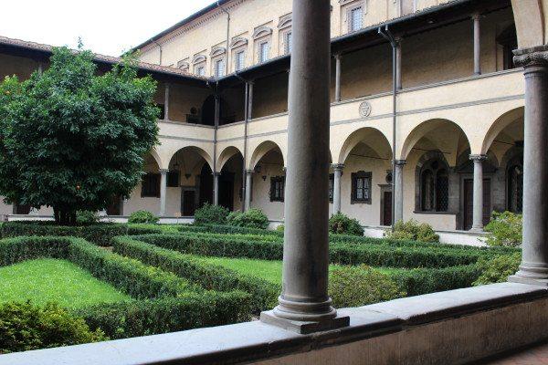 The Interior Garden of the Santa Croce Basilica.