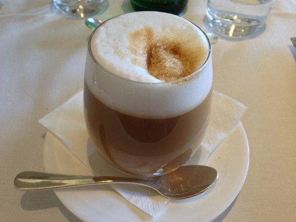A cafe latte on our visit to Florence