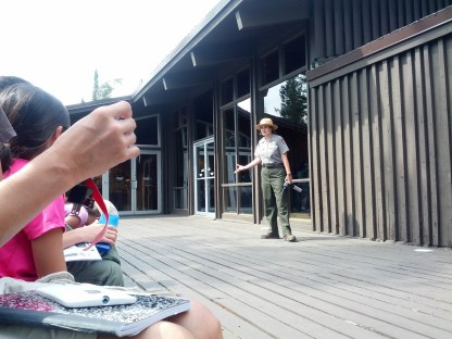 Junior Ranger bear safety talk, Grand Teton