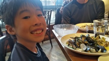 Penn Cove mussels and clams