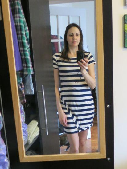Loveappella Zola Asymmetrical Striped Dress - Stitch Fix