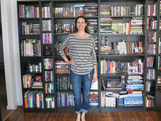 Kut from the Kloth Kate Distressed Boyfriend Jean and Market & Spruce Corinna Striped Dolman Top - Stitch Fix