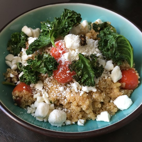 Mediterranean Quinoa Bowl with Kale Chips, Olives, and Feta | HelloFresh