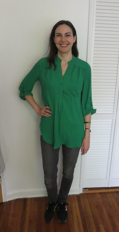 41Hawthorn Colibri Solid Tab Sleeve Blouse | Stitch Fix