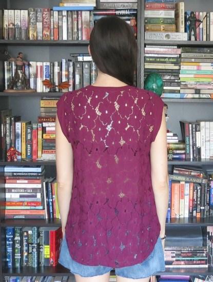 Daniel Rainn Wilken Lace Back Blouse, back detail | Stitch Fix