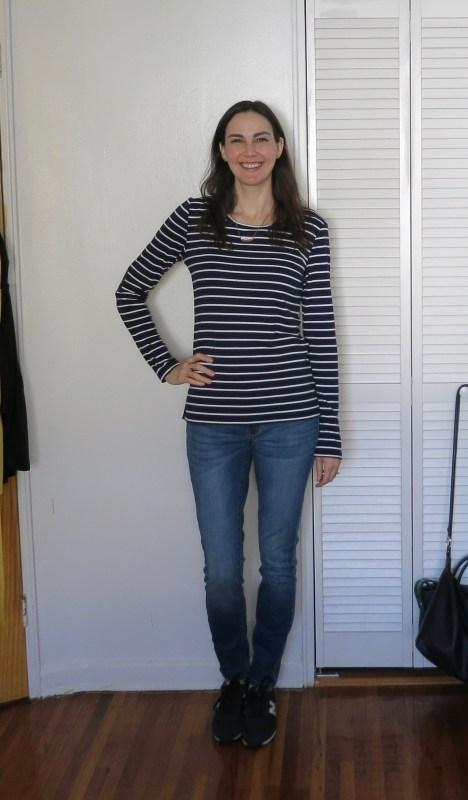 Pixley Greenich Striped Knit Top, Lila Ryan Liza Skinny Jean   Stitch Fix